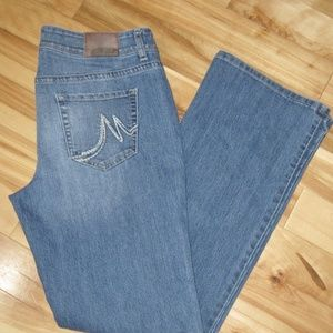 MAURICES STRETCH BOOT CUT BLUE JEANS SZ 14 NEW
